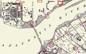Anacostia River Historical Map, 1894